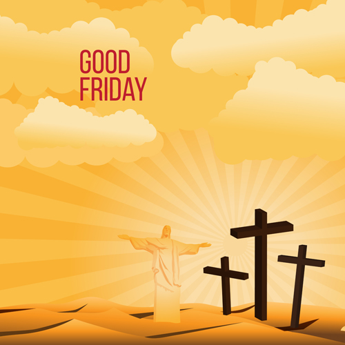 500x500 Vector Good Friday Background Design 01 Free Download
