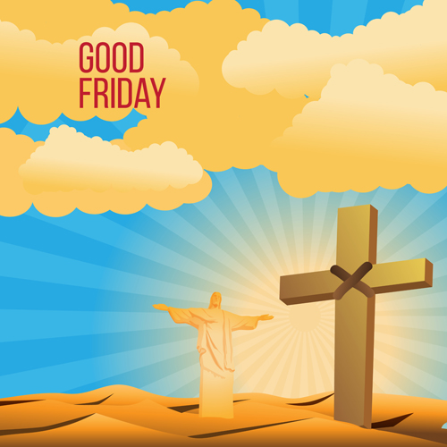 500x500 Vector Good Friday Background Design 03 Free Download