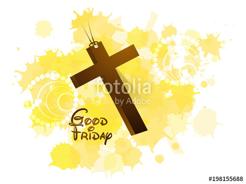 500x375 Creative Abstract, Banner Or Poster For Good Friday With Nice And