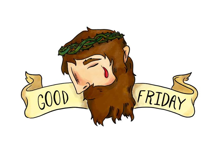 700x490 Good Friday Vector Watercolor Illustration Of Jesus With Crown Of