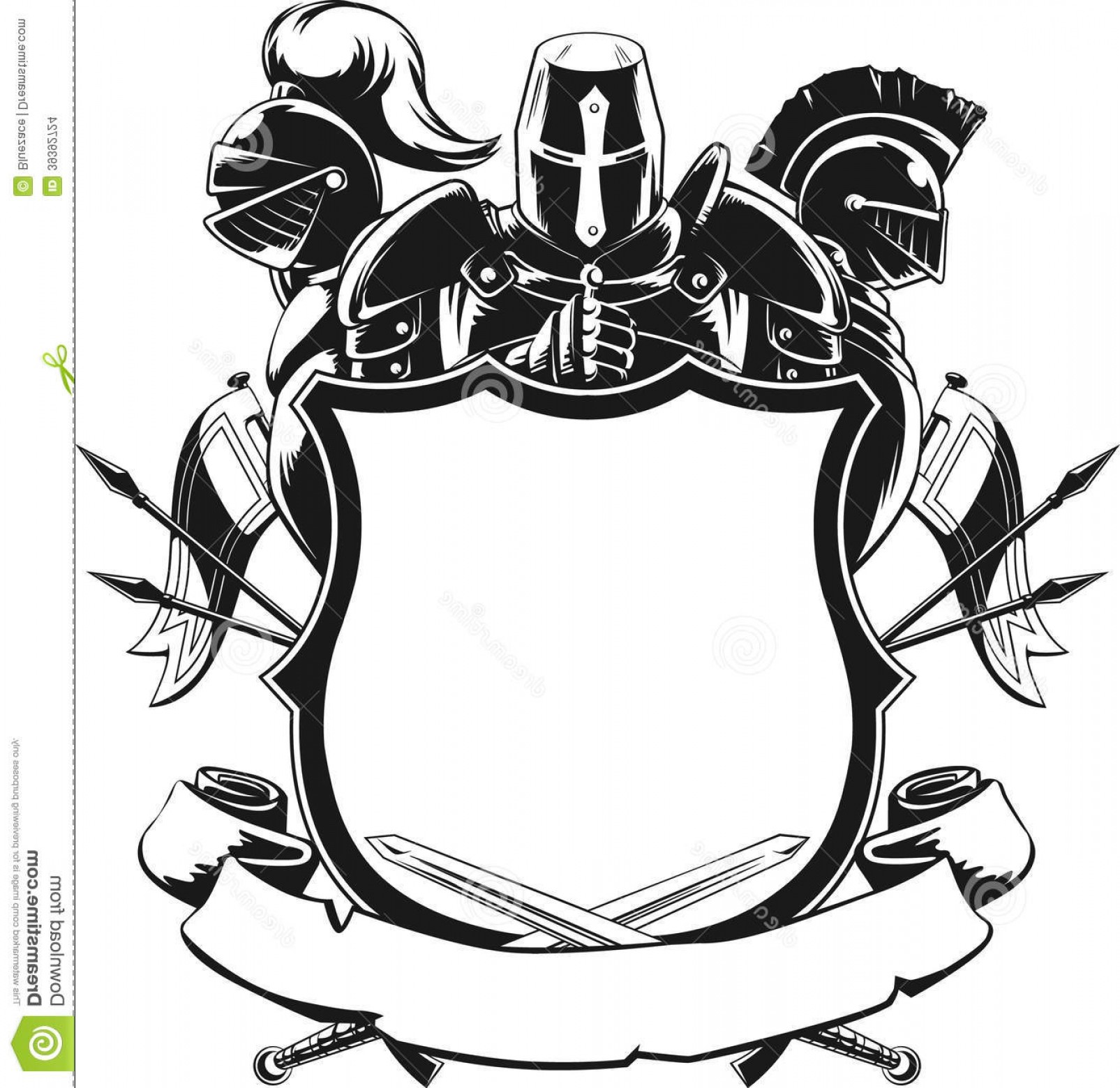 1605x1560 Stock Images Knight Shield Silhouette Ornament Vector Set Knightly