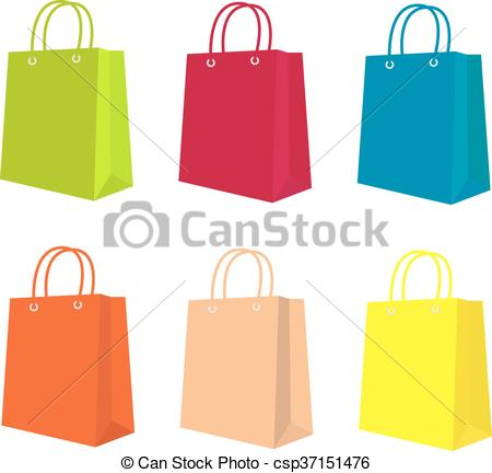 450x432 Colored Gift Bags In Vector.