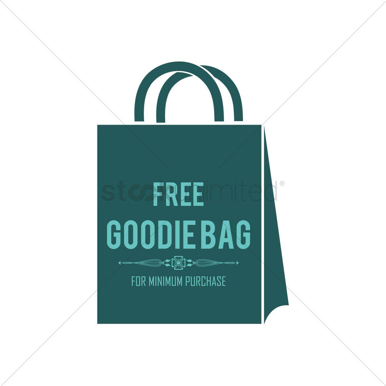 1300x1300 Free Goodie Bag Label Vector Image
