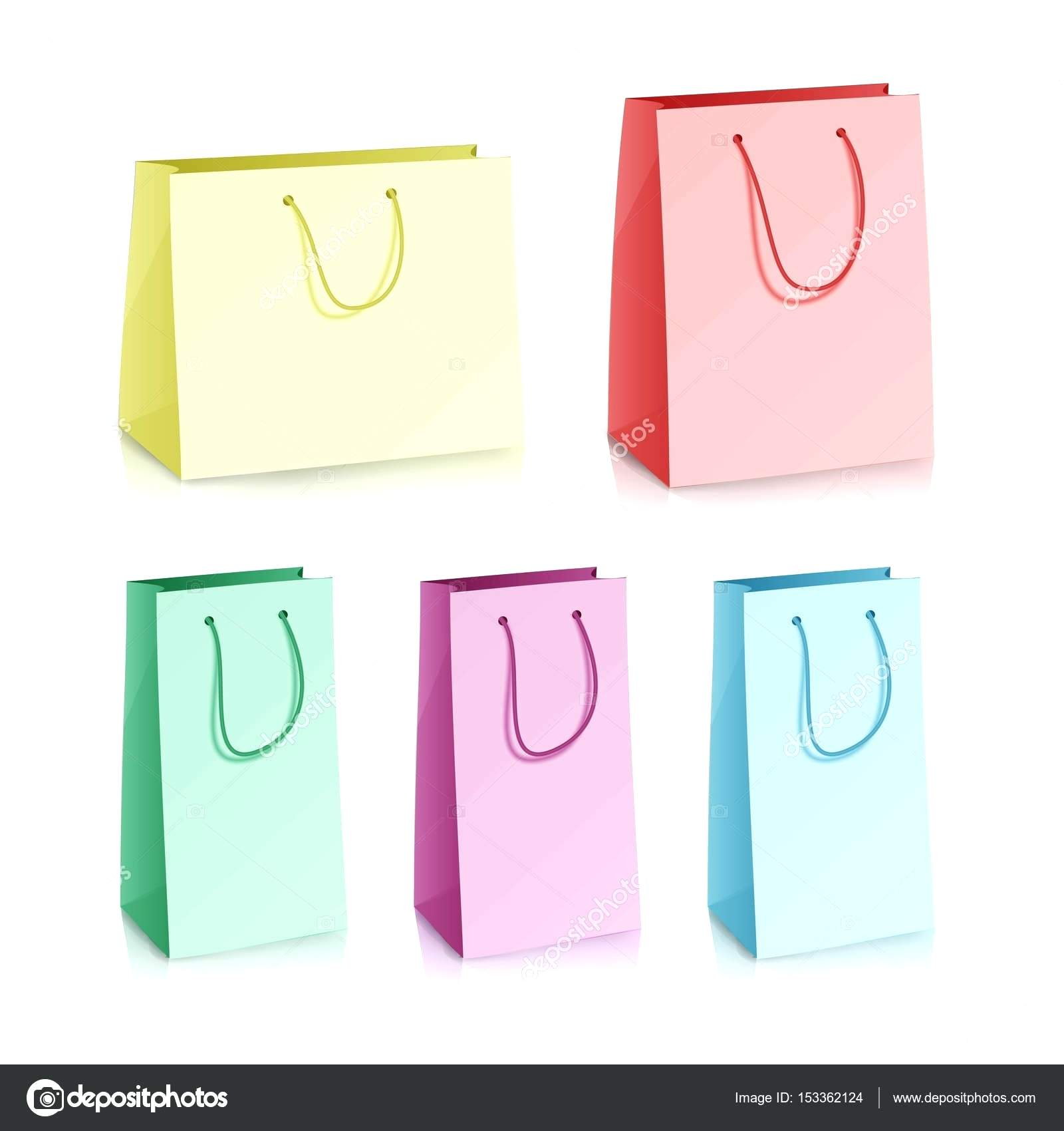 1600x1700 Template Goodie Bag Template Blank Paper Vector Realistic