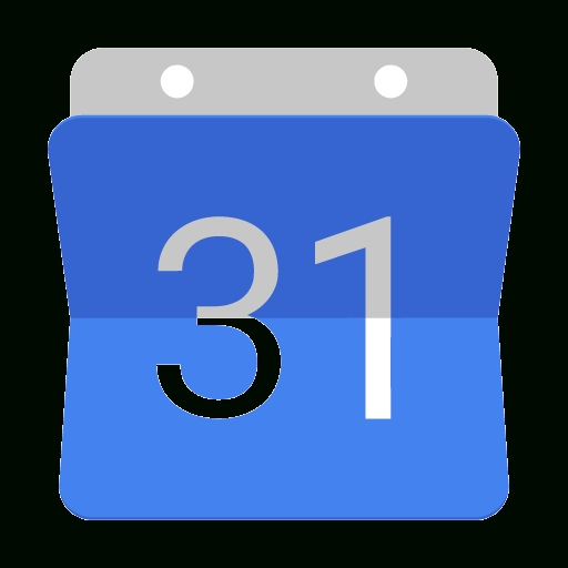 512x512 Google Calendar Icon Vector Free Design Templates