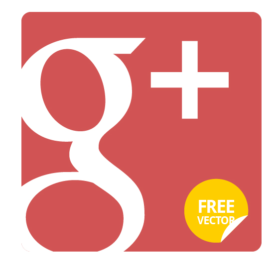 550x535 Google Plus Flat Icon (Vector)