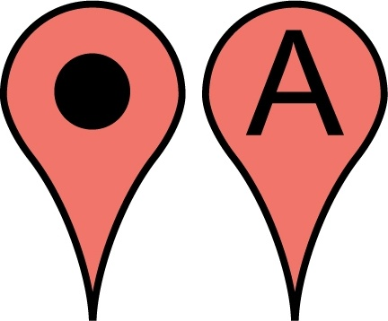 432x358 Free Google Maps Pointer Icon Free Vector In Adobe Illustrator Ai