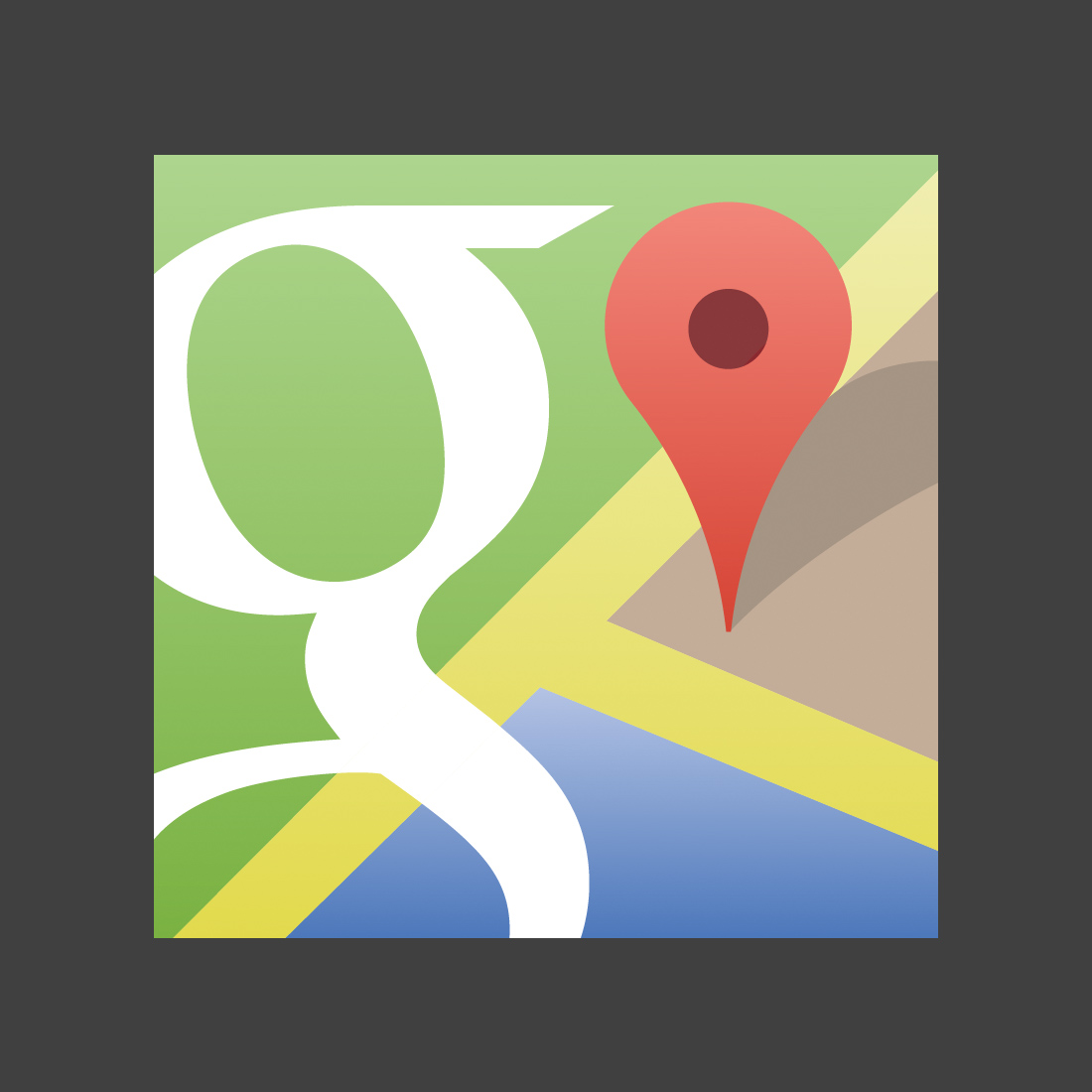 1100x1100 Vector Google Maps Icon Trashedgraphics