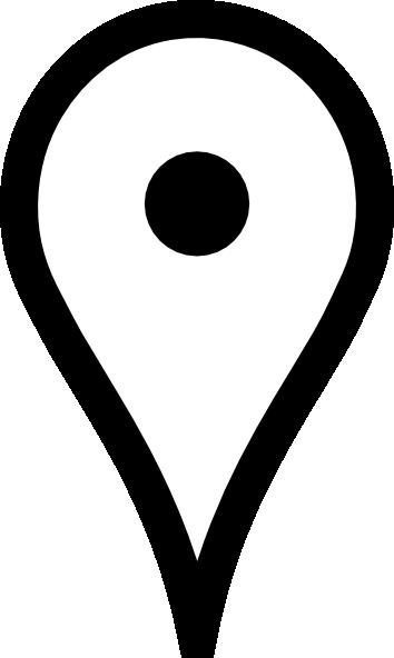 354x592 White Google Map Pin Clip Art