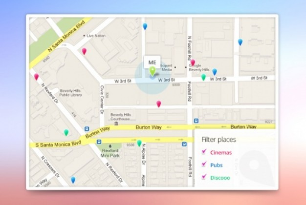 626x420 App Google Maps Template Psd File Free Download
