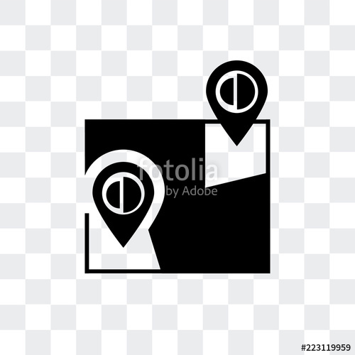 500x500 Google Maps Vector Icon Isolated On Transparent Background, Google