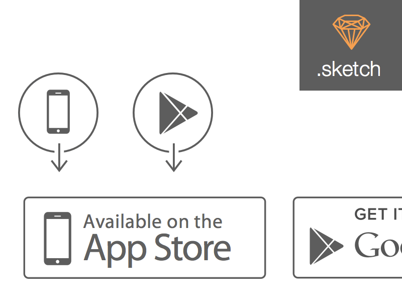 800x600 Apple App Store And Google Play Store Icons Sketch Freebie