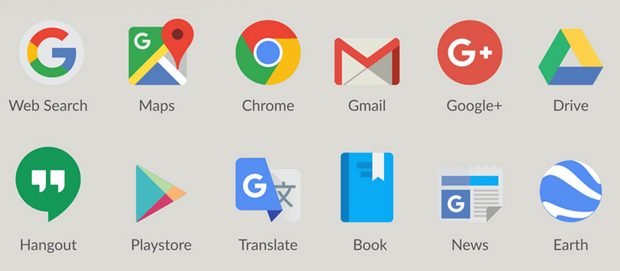 878x384 Free Google Product Logos Icons Vector