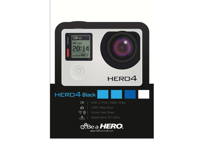 700x490 Gopro Camera Vector Hero4 Black Free Vector Art