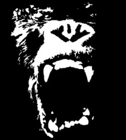 261x290 Gorilla Face Vector