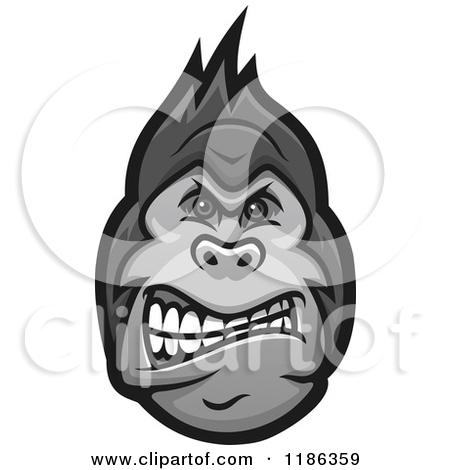 450x470 Gorilla Clipart Gorilla Face Clipart