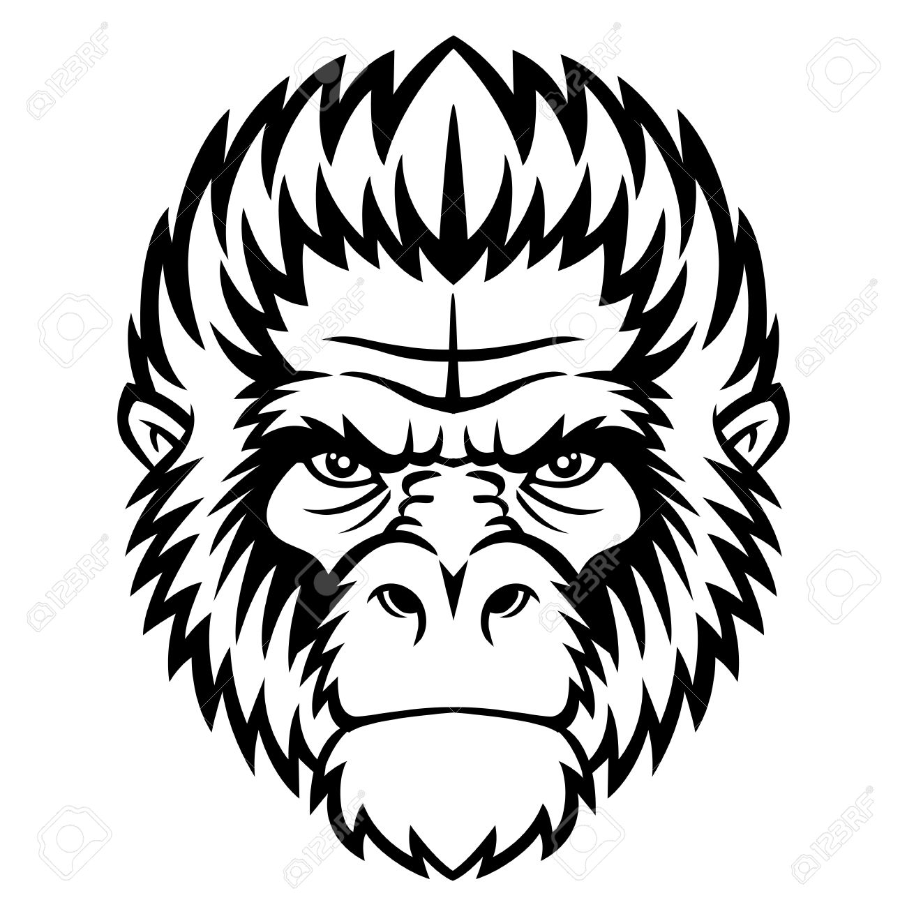 1300x1300 Gorilla Clipart Gorilla Face Clipart