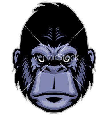 380x400 Gorilla Head Mascot Vector 1675261