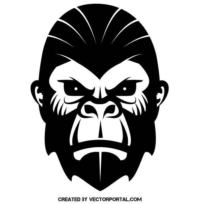 660x660 Gorilla Vector Image. Animal Vectors Illustrations