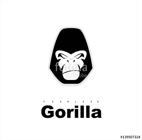 500x492 Gorilla.gorilla Face. Gorilla Head. Gorilla Logo. Simple Flat Of