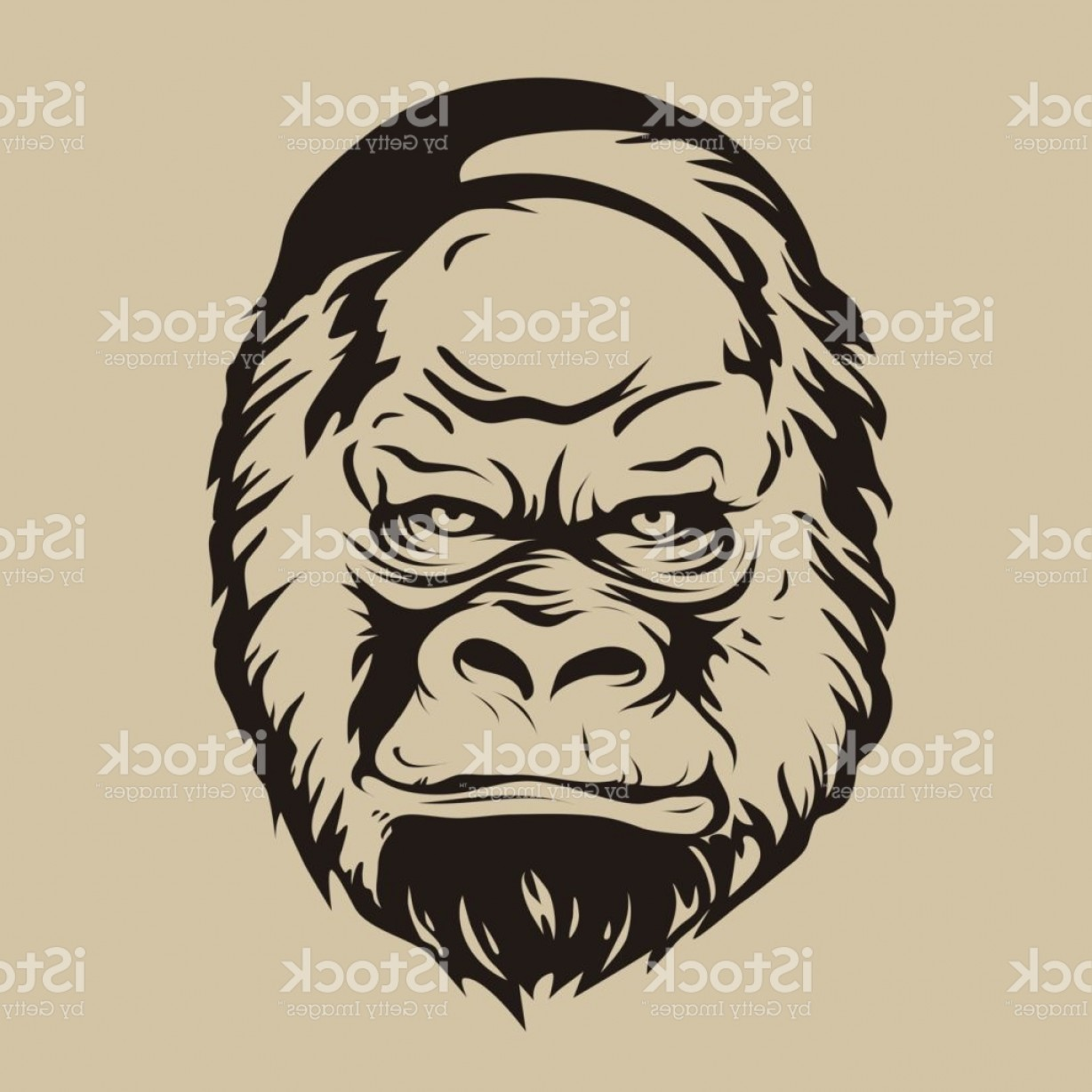 1228x1228 Graphic Print The Silhouette Of A Gorilla Face Gm Arenawp