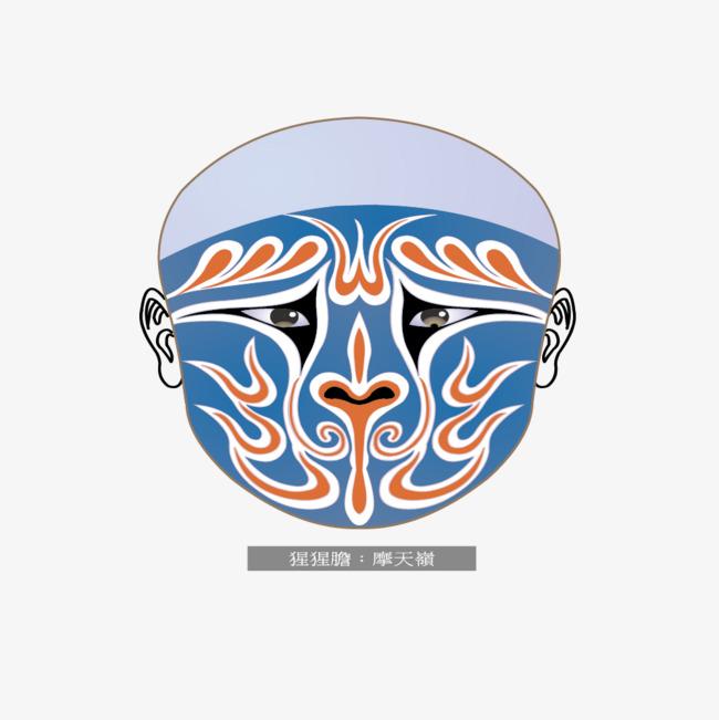 650x651 Peking Opera Gorilla Face Motian, Gorilla Vector, Face Vector