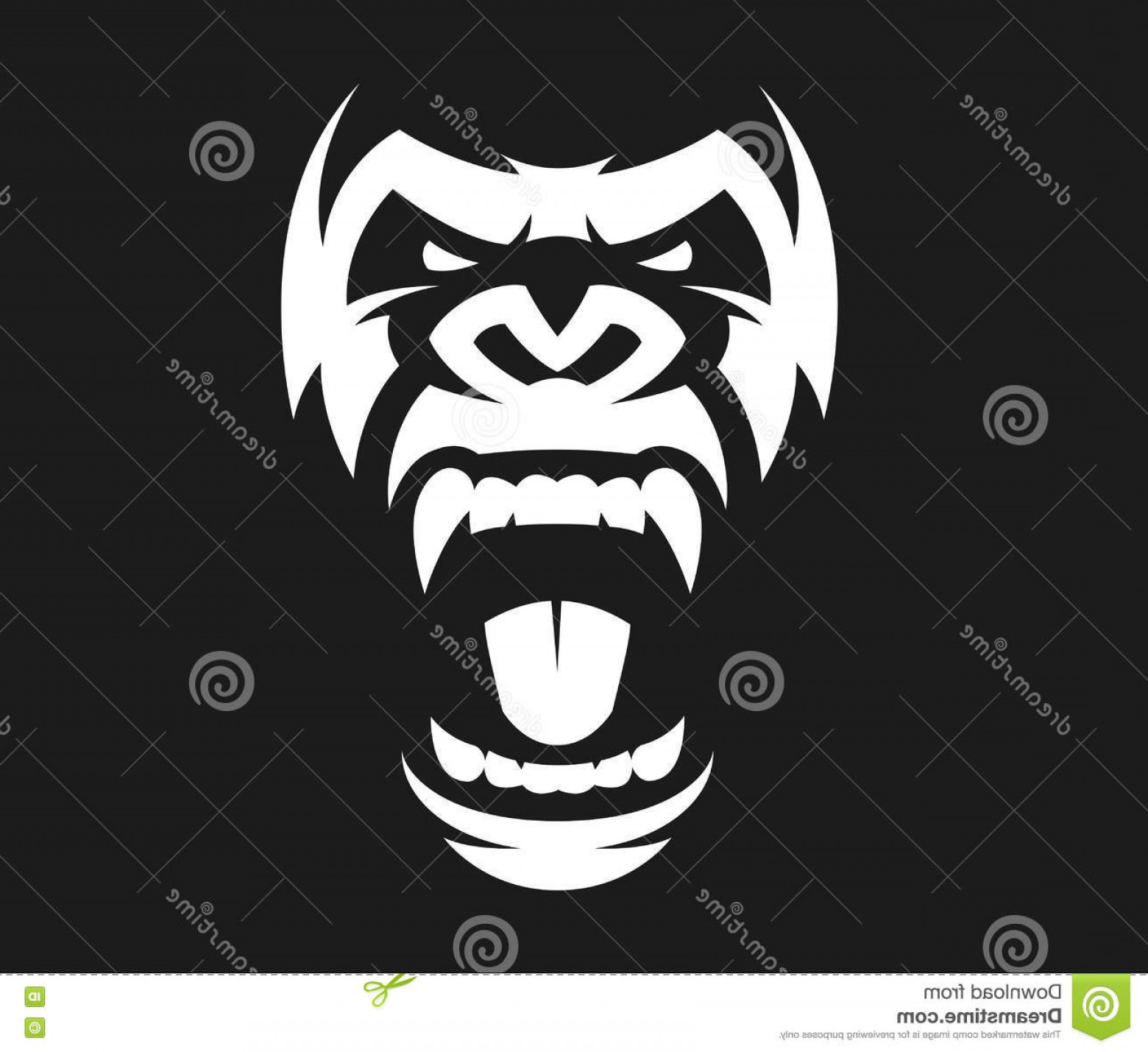 1560x1429 Stock Illustration Angry Gorilla Symbol Vector Illustration Head