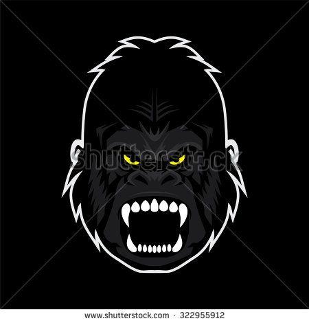 450x470 Angry Gorilla Kingkong Face Vector Illustration