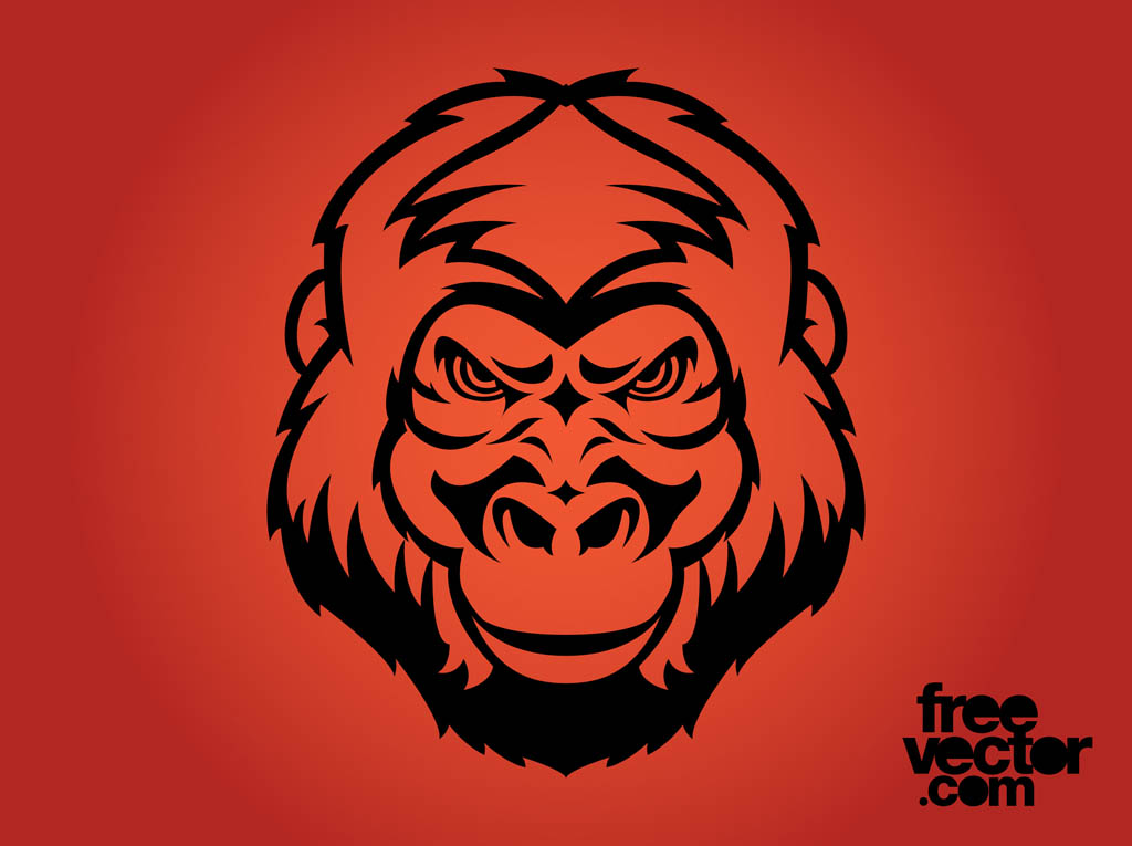 1024x765 Angry Gorilla Face Vector Art Amp Graphics
