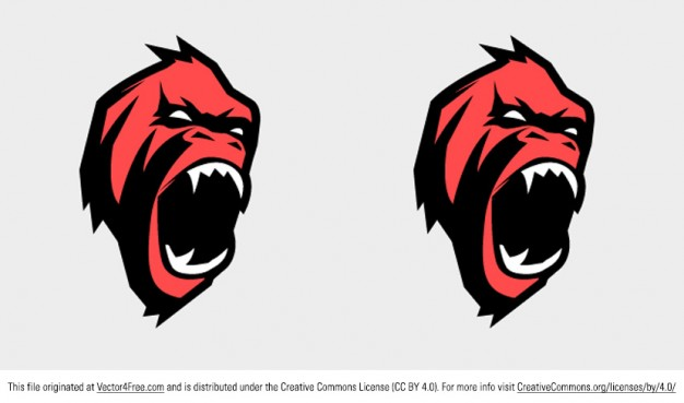 626x369 Angry Gorilla Face Vector Vector Free Download