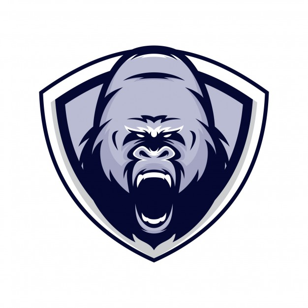626x626 Gorilla Animal Sport Mascot Head Logo Vector Vector Premium Download