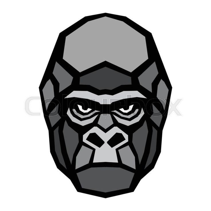 736x736 Symmetry Clipart Gorilla Head