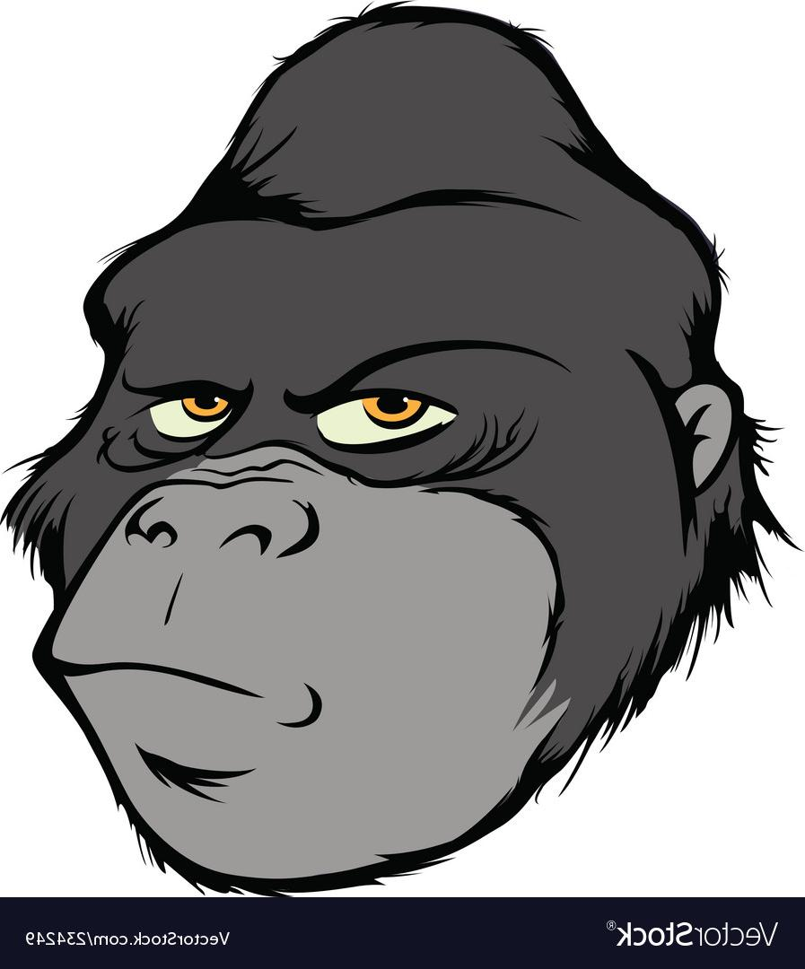 897x1080 Best Free Gorilla Head Vector Design