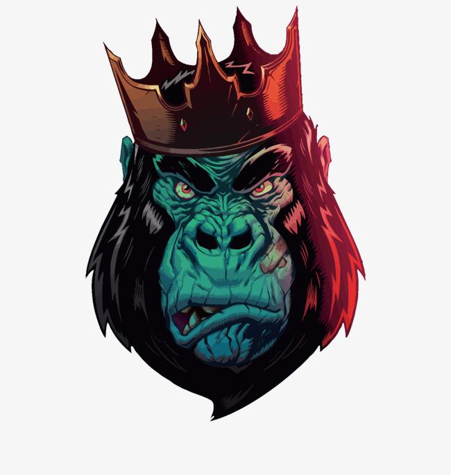 650x685 Vector Orangutan King, Chimpanzee, An Crown, Gorilla Vector Png