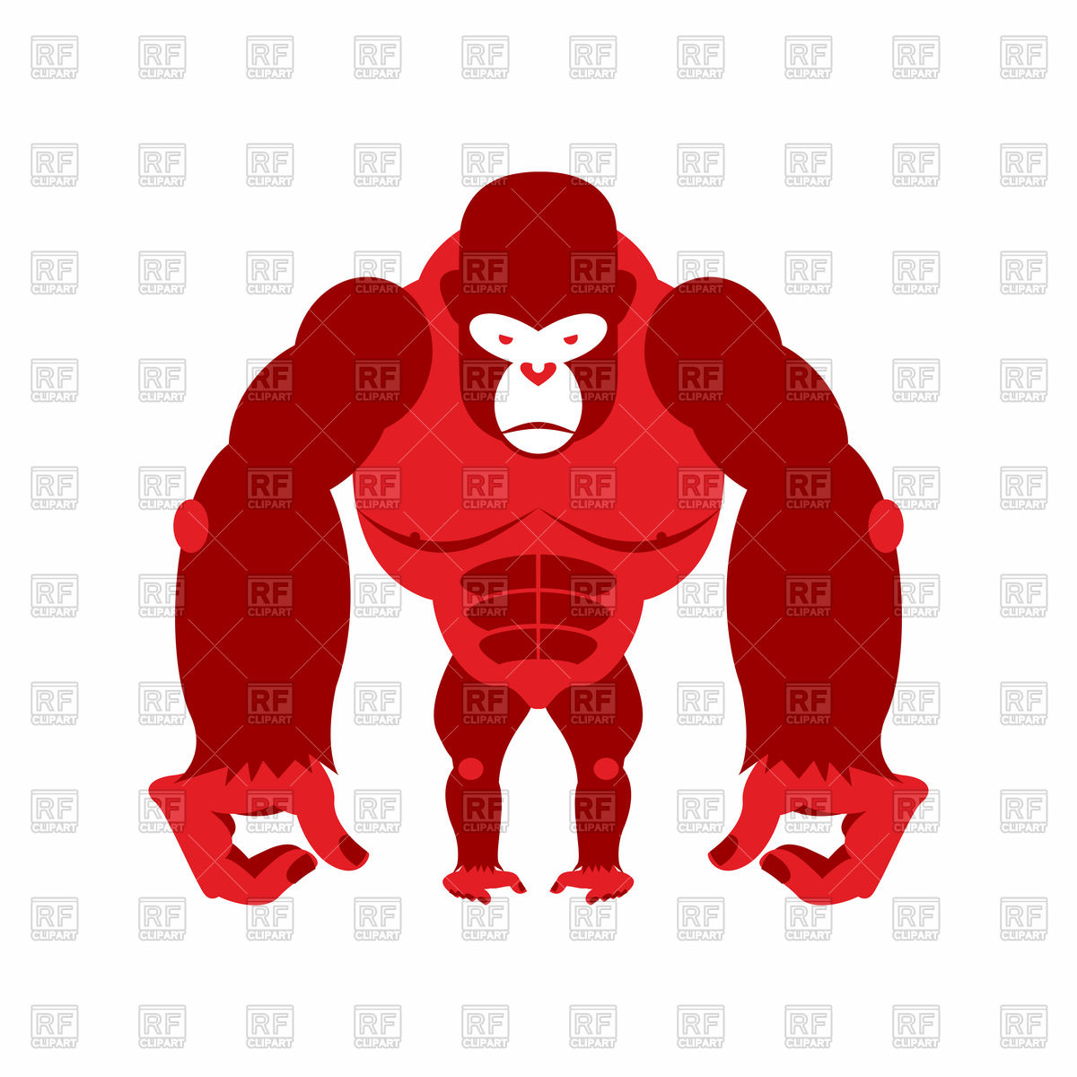 1200x1200 Red Gorilla Vector Image Vector Artwork Of Plants And Animals