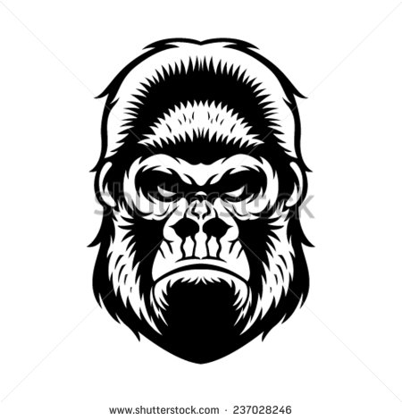 450x470 Gorilla Graphic Design Gorilla Head Vector Graphic Illustration
