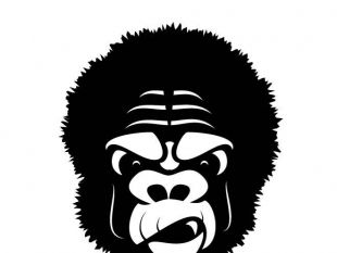 310x233 Gorilla Vector Graphics Free Vectors Ui Download