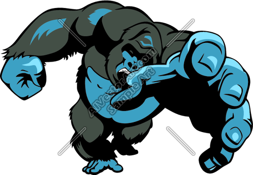 500x347 Gorilla4 Clipart And Vectorart Sports Mascots