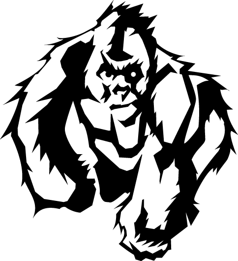 484x530 Collection Of Free Gorilla Vector Primate. Download On Ubisafe