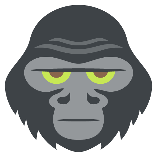512x512 Collection Of Free Gorilla Vector Angry. Download On Ubisafe