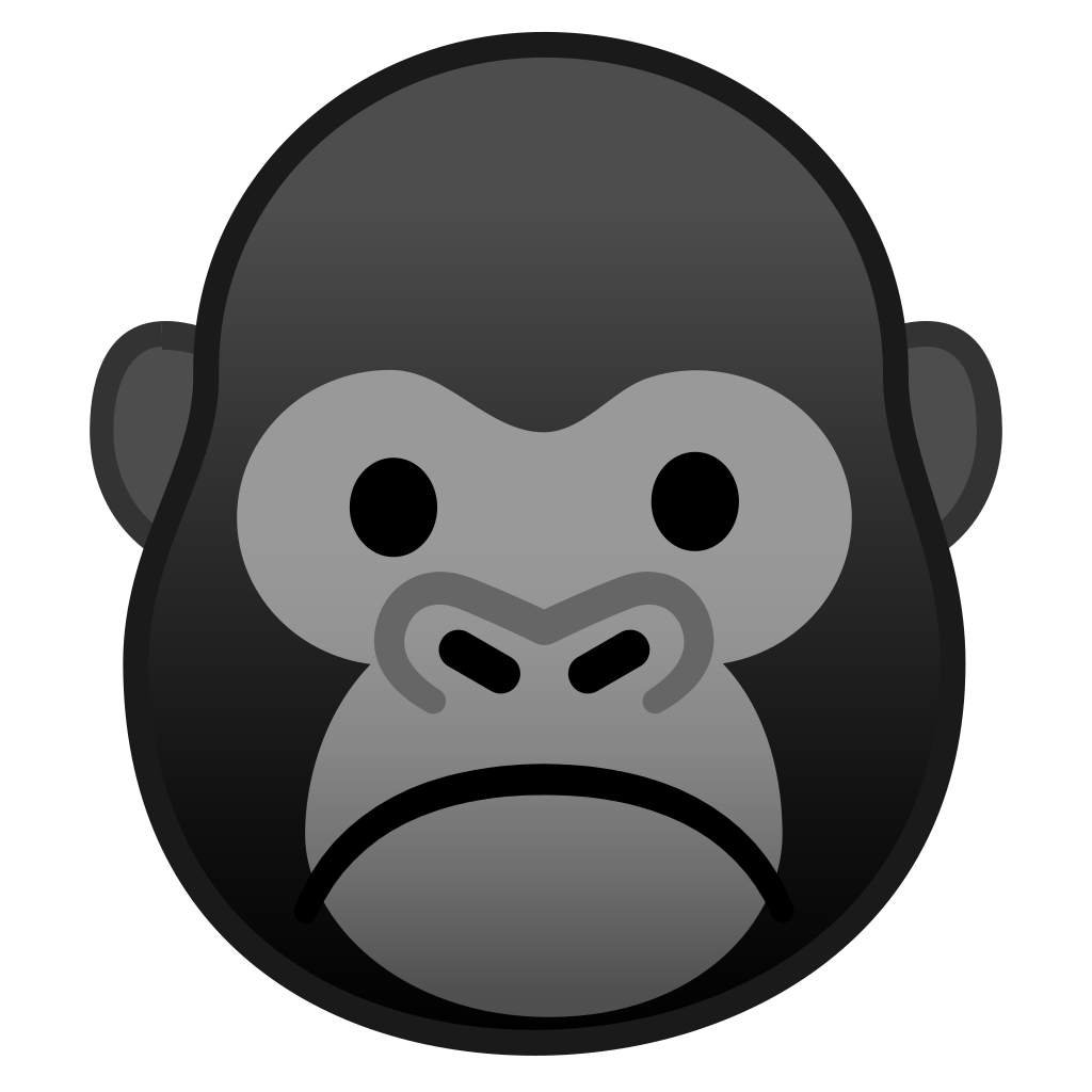 1024x1024 Collection Of Free Gorilla Vector Cartoon. Download On Ubisafe