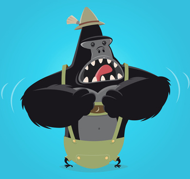 390x368 Free Gorilla Vector Images Free Vector Download (45 Free Vector