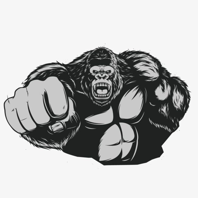 650x651 Muscle Gorilla, Muscle, Gorilla, Cartoon Png And Vector For Free