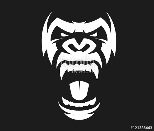 500x424 Angry Gorilla Symbol Stock Image And Royalty Free Vector Files On