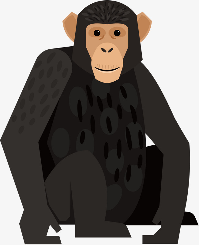 650x799 Black Cute Gorilla, Black, Gorilla, Vector Png And Vector For Free