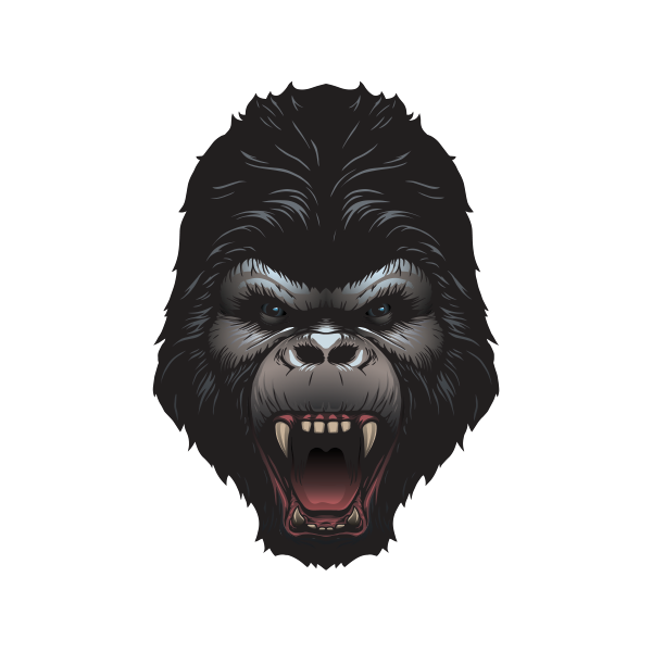 600x600 Collection Of Free Gorilla Vector Aggressive. Download On Ubisafe