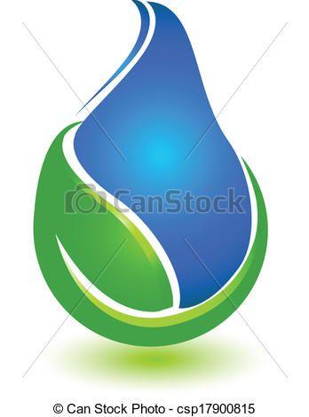 348x470 Vector Clip Art De Hoja, Gota, Agua, Logotipo