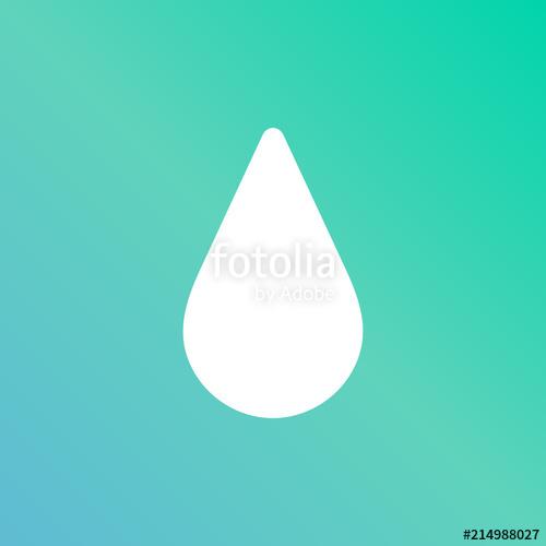 500x500 Icono Color Azul Y Verde Gota Agua Energia Stock Image And