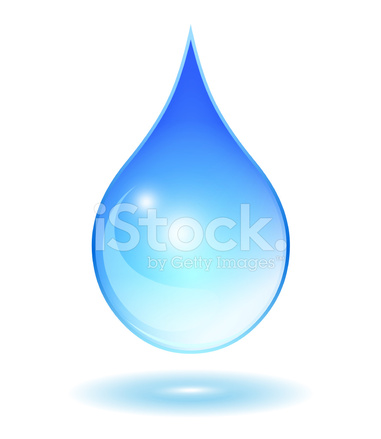 381x439 Gota De Agua Azul Stock Vector