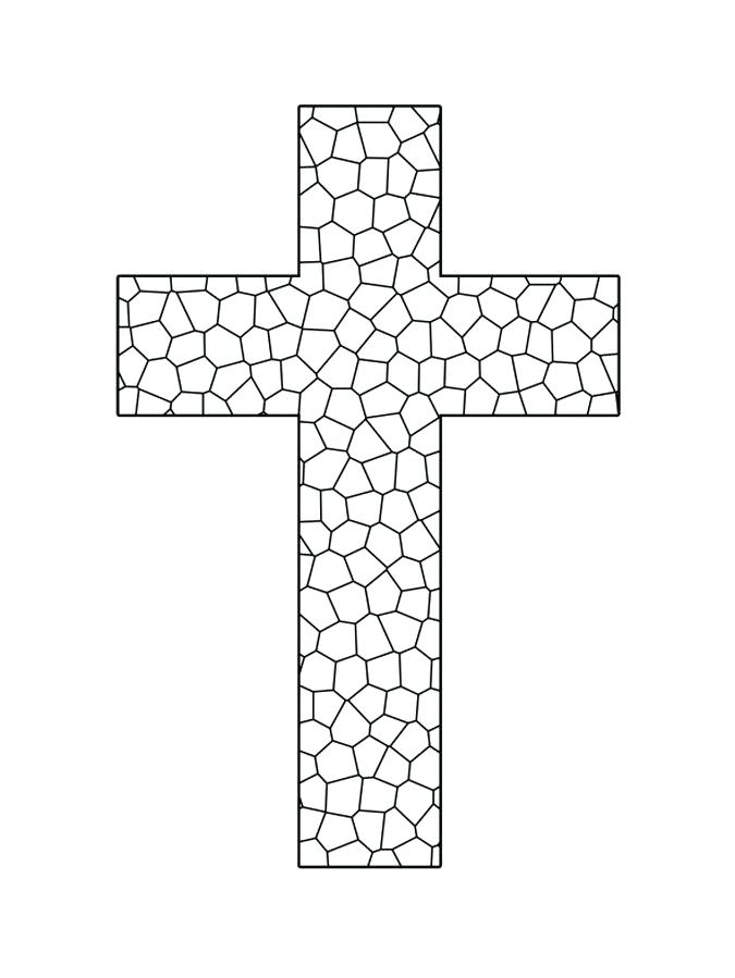 image about Religious Cross Template Printable titled cross template -